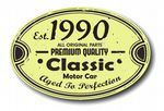 Distressed Aged Established 1990 Aged To Perfection Oval Design For Classic Car External Vinyl Car Sticker 120x80mm